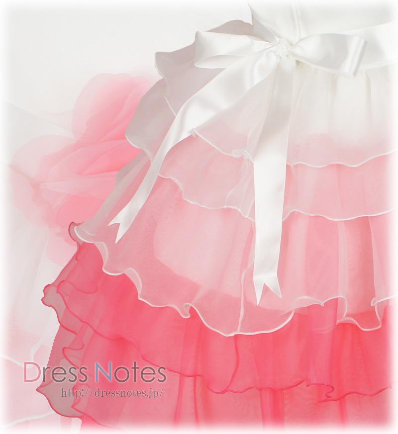 DressNotesのピアノ演奏用ドレス「アリア・ロング」フーシャピンク-3
