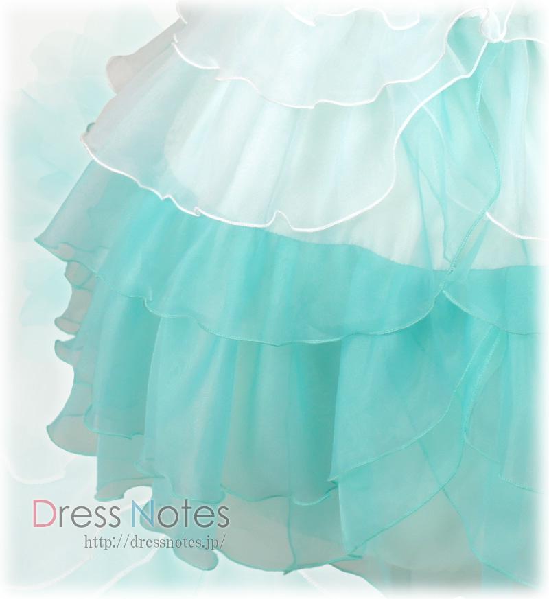 DressNotesのピアノ演奏用ドレス「アリア・ロング」ミントグリーン-3