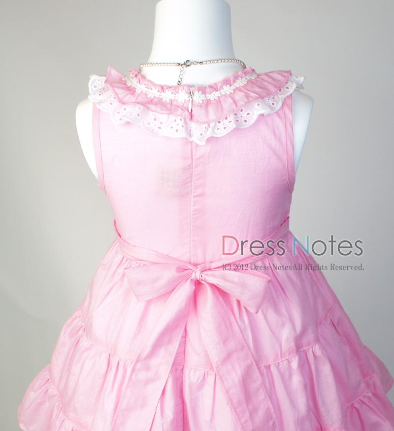コットン子供ドレス「いちごみるくモア」 ピンク B1020-5