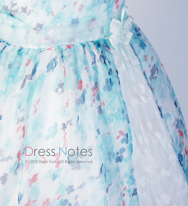 子供ドレス「ソフィ」 ブルー B1028-5
