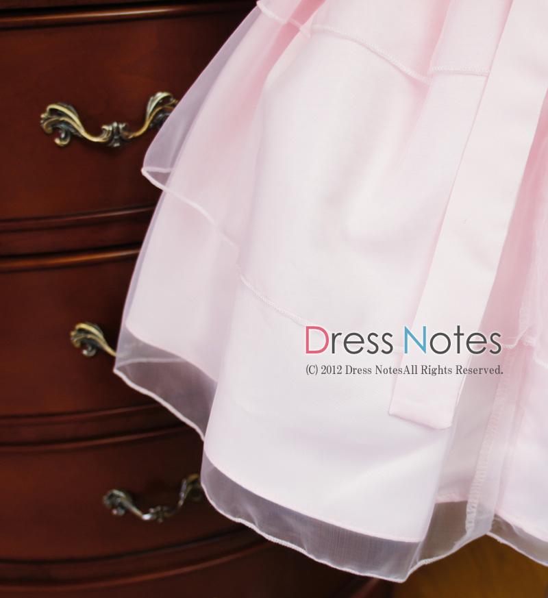 子供ドレス「メレンゲ」ピンク A8004-4