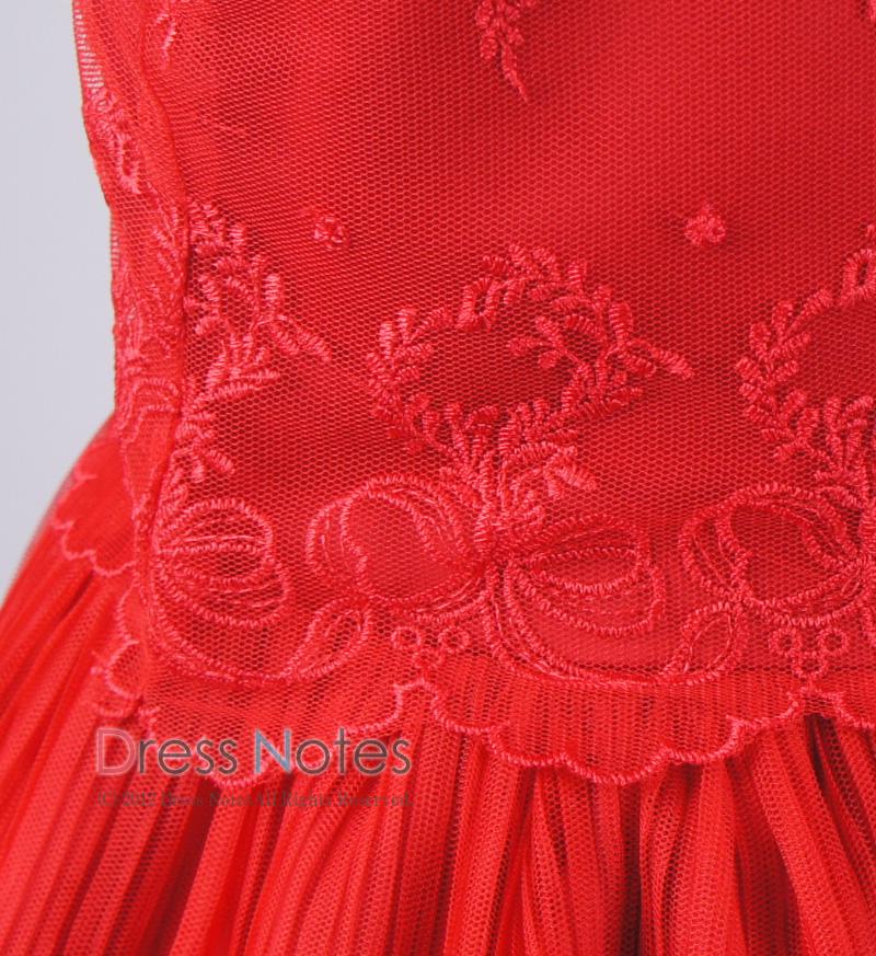 子供ドレス「パガテル」レッド D8022-2