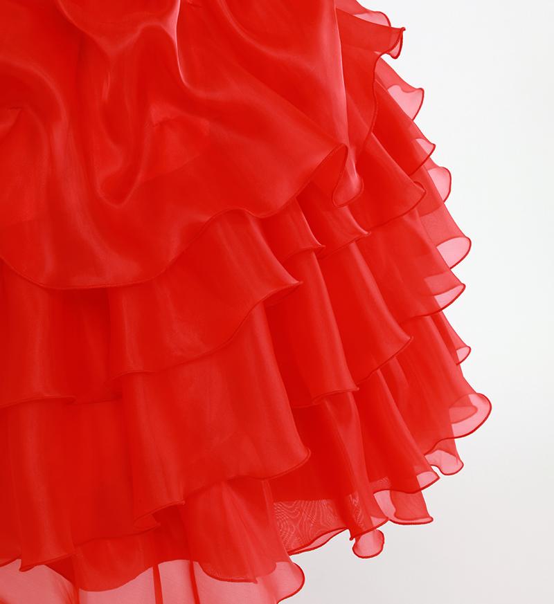 DressNotesのピアノ演奏用ドレス「アルドーレ2」プロミネンスレッド-11