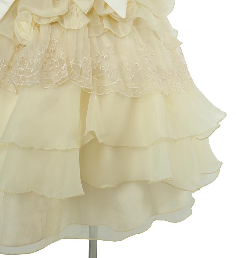 子供ドレス「ヴィエリア」ライトイエロー-6