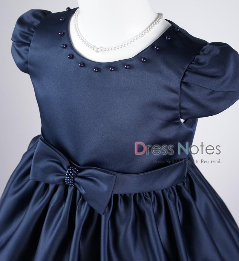 子供ドレス「マスカレード」ネイビー D8020-1