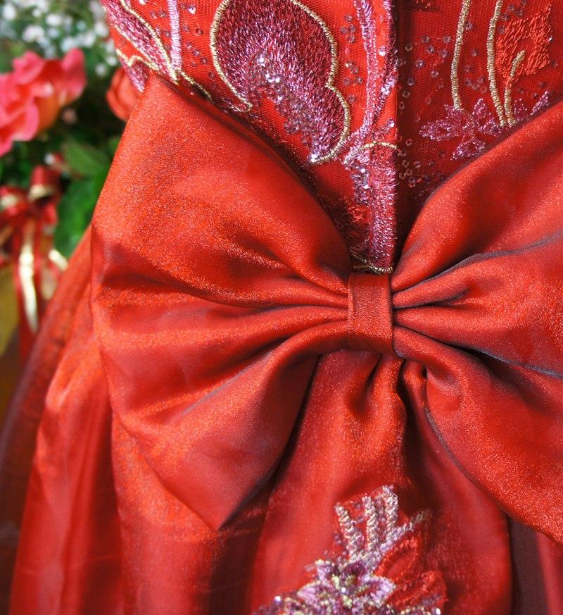子供ドレス「ハバネラ」ワイン F8001-3