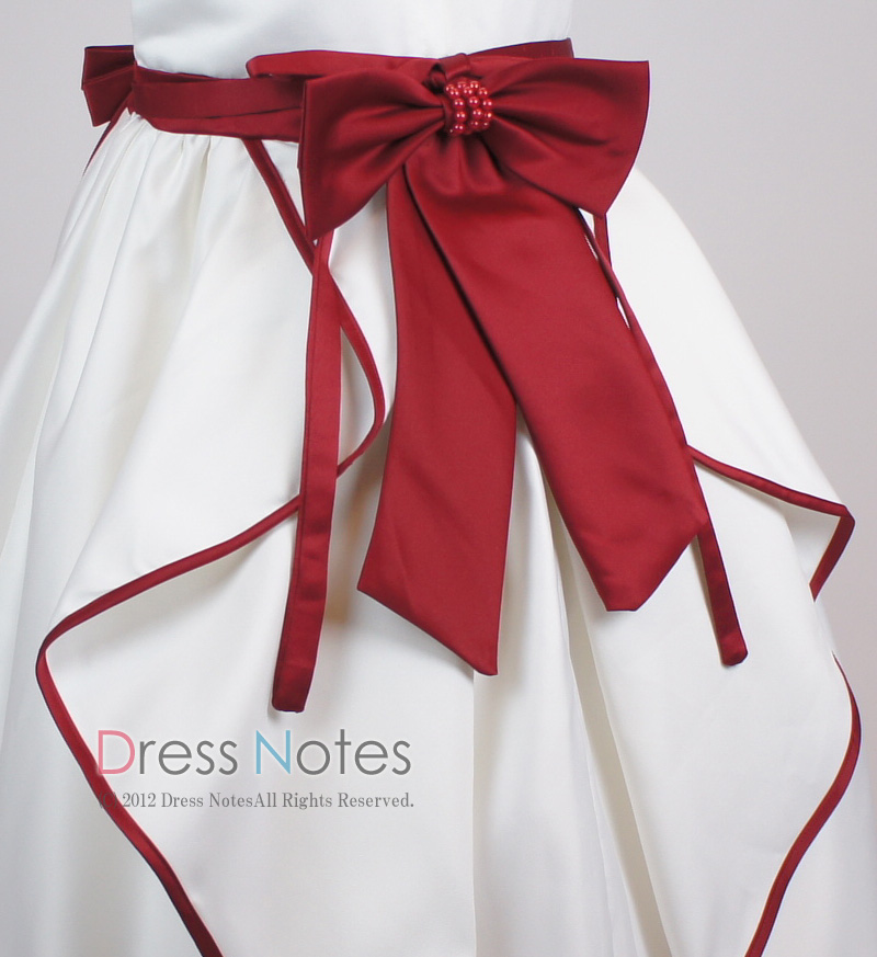子供ドレス「ソナタ」ワイン D8024-5