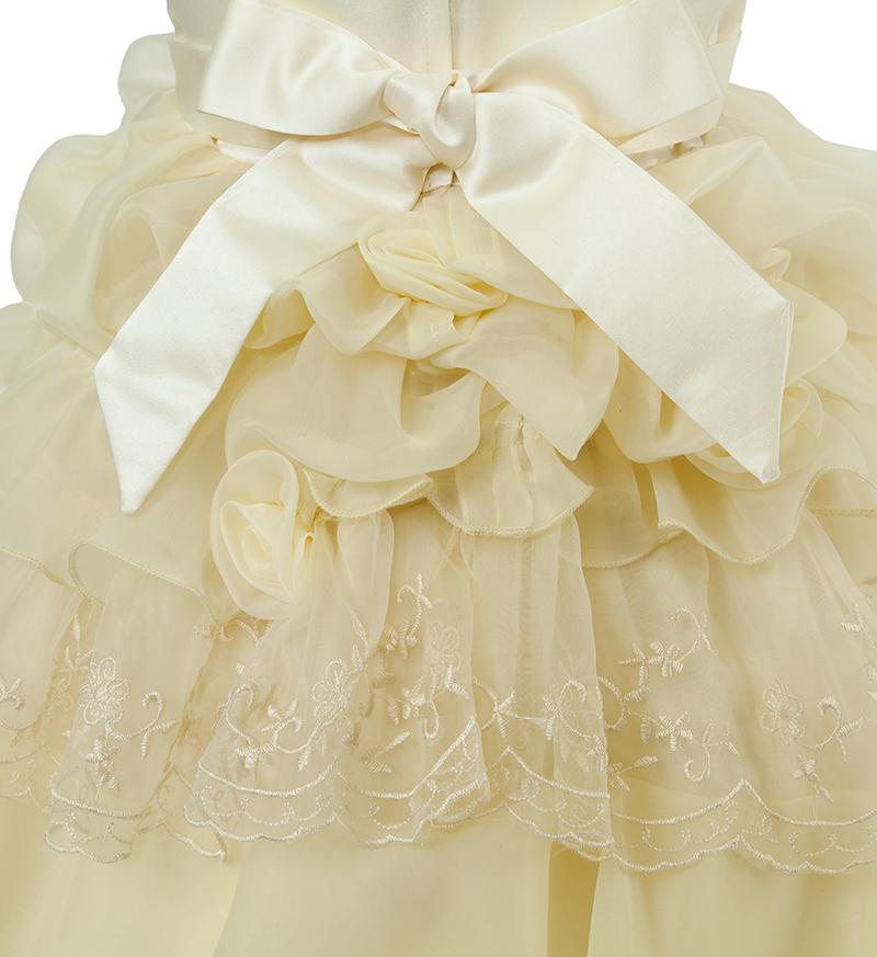 子供ドレス「ヴィエリア」ライトイエロー-7