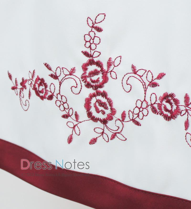 子供ドレス「ソナタ」ワイン D8024-6