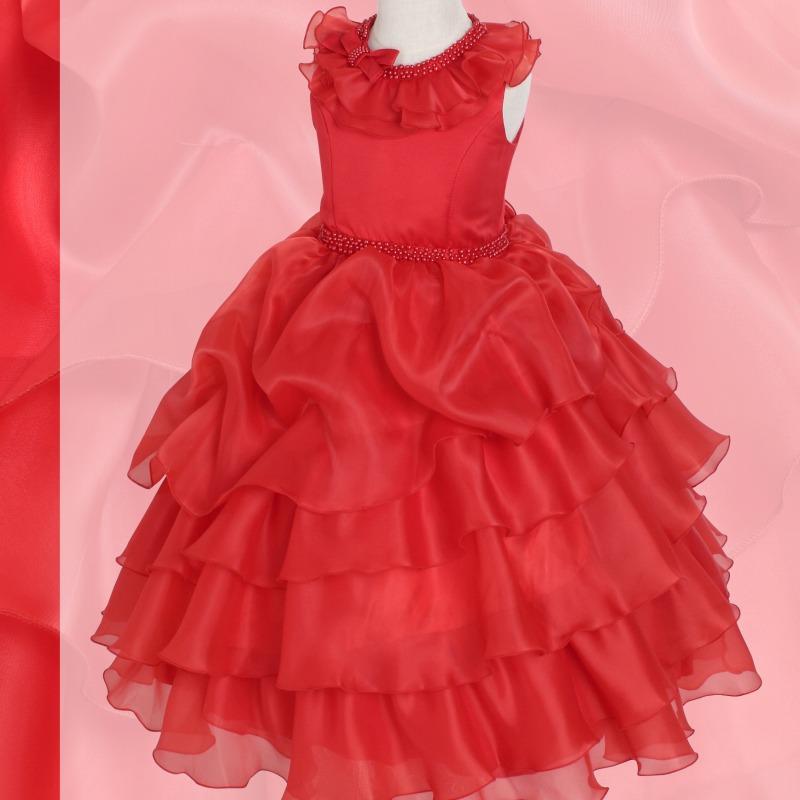 DressNotesのピアノ演奏用ドレス「アルドーレ2」プロミネンスレッド