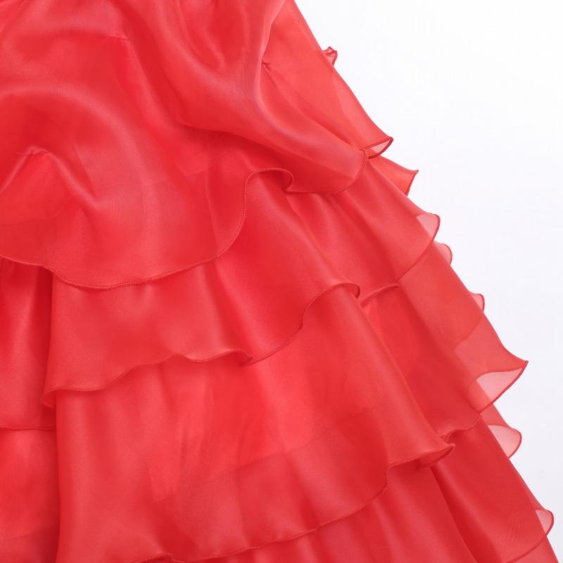 DressNotesのピアノ演奏用ドレス「アルドーレ2」プロミネンスレッド-5