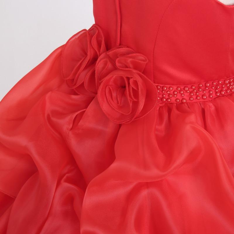 DressNotesのピアノ演奏用ドレス「アルドーレ2」プロミネンスレッド-8
