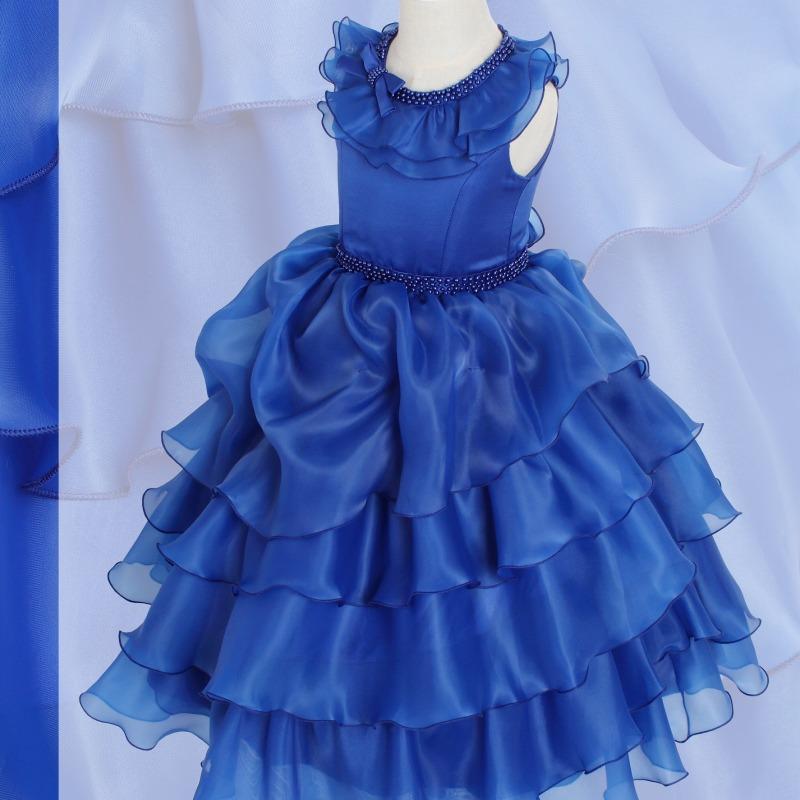 DressNotesのピアノ演奏用ドレス「アルドーレ2」スピリチュアルブルー
