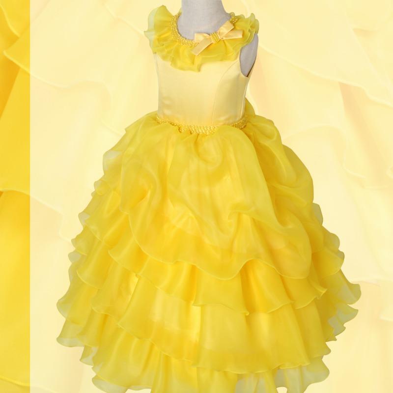 DressNotesのピアノ演奏用ドレス「アルドーレ2」フルムーンイエロー dn01_yellow