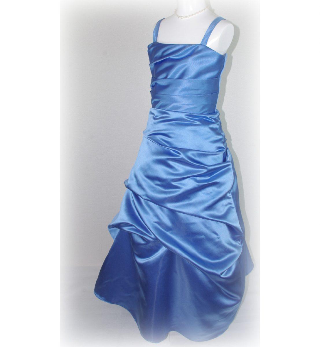 子供ドレス「ロイズ」ノーブル・ブルー J8005-1