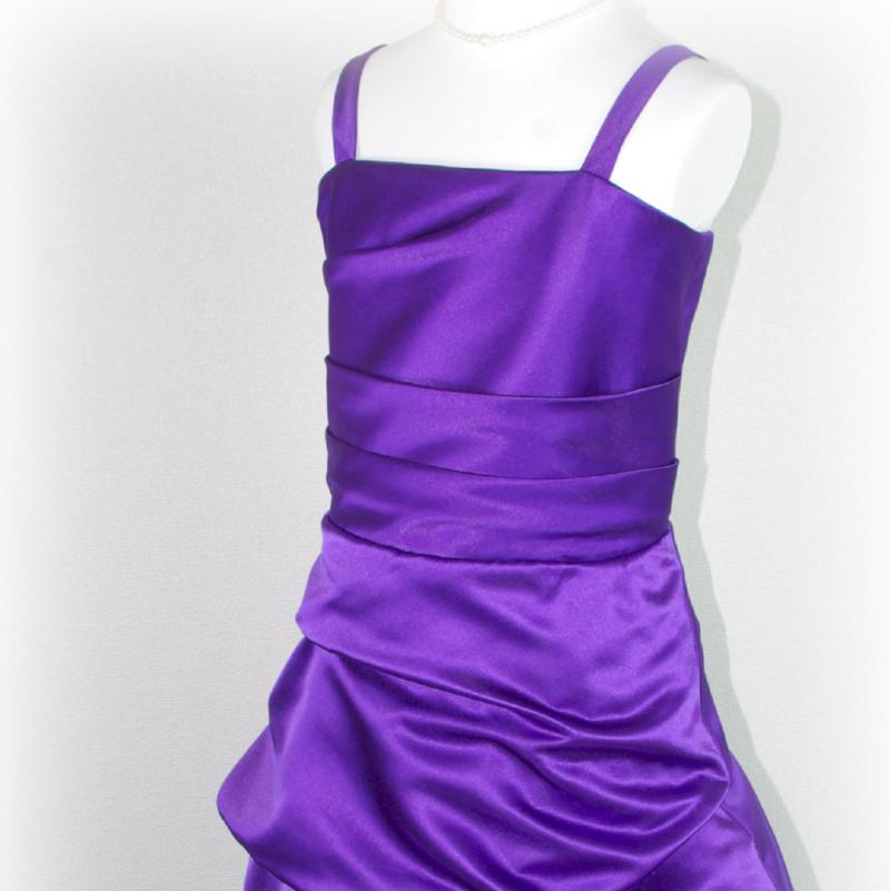 子供ドレス「ロイズ」ハイ・パープル J8004