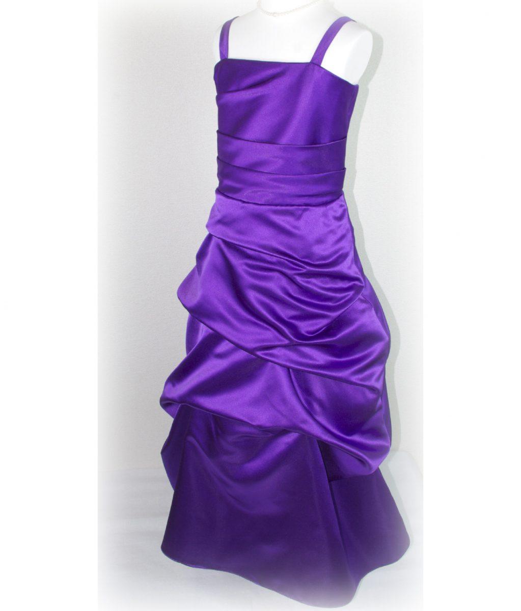 子供ドレス「ロイズ」ハイ・パープル J8004-1