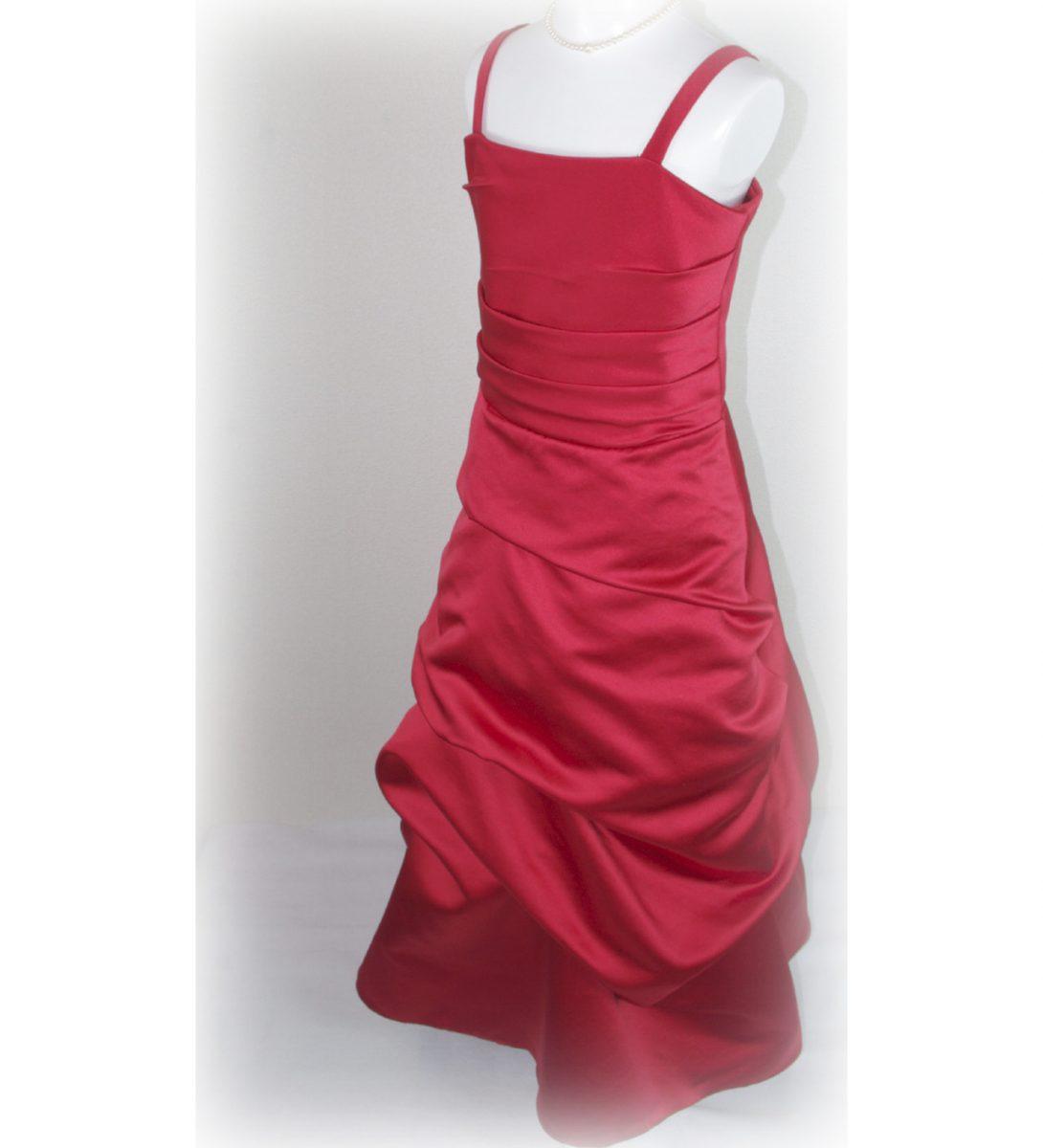 子供ドレス「ロイズ」クイーン・レッド J8002-1